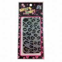 2012 Fashionable Mobile Phone Stickers, Measures 16x8cm Manufactures