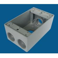 China Aluminum Waterproof Electrical Box Weatherproof Receptacle Box Grey Color on sale