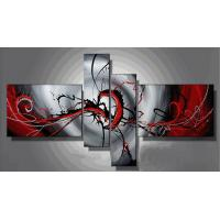 4Pcs/Set  black and white heart modern canvas Home-decor Abstract Art;Hand Painted Artwork Manufactures