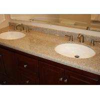 Brown Marble Eased Edges Bath Vanity Tops Single Double Sink Countertop Manufactures