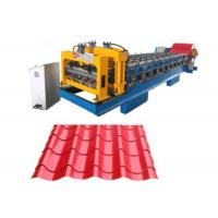 China Steel Roof Glazed Tile Making Machine 0.4 - 0.8 Mm Thickness 380v 50hz on sale