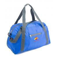 600D Blue Suitcase Luggage Sports Travel Bags With Two Shoulder Strap Manufactures