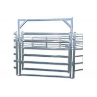 Heavy Duty Cattle Yard Panels Fast Pin Latch System 3 - 7 Horizontal Rails Manufactures