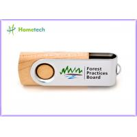 Storage Logo Printing wooden pen drive , small 16gb usb 2.0 flash drive high speed Manufactures