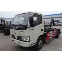 China Hook Lift Garbage Waste Removal Trucks Carbon Steel With 4 CBM Hopper on sale