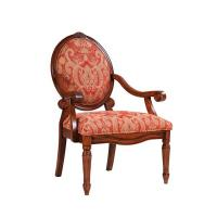 Quality Rustic Teal Upholstered Dining Chairs , Oak Patterned Dining Room Chairs for sale