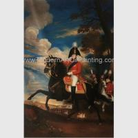 China Framed People Oil Painting Handmade Napoleonic War Paintings 60 X 90 Cm on sale