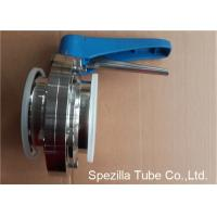 Buy cheap A270 Sanitary Valves And Fittings Stainless Steel Plastic Handle Tri Clamp Butterfly Valve from wholesalers