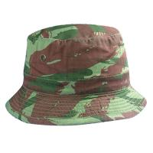 China Camouflage Green Cotton Bucket Hat Camo Khaki Bucket Hat for Fisherman on sale