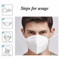 5 Layer EarLoop Non Woven Dustproof KN95 Face Mask Manufactures