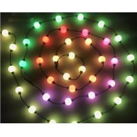 10 ft reel DMX 24v 50mm RGB pixel led light strings globe 3D balls for outdoor decoration project Manufactures