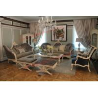 French-type Furniture made by Wooden Carving Frame with Upholstery Sofa Set Manufactures