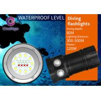 80M Marine Flash Torch Flashlight For Diving 10000LM Cree Button Switch 120 Degree Beam Angel Manufactures