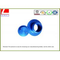 Aluminium CNC turning parts with blue anodization Manufactures