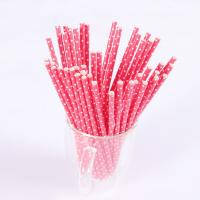 Wholesale custom food grade paper drinking straws printed Manufactures