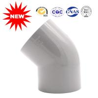 China Hot Pressed Water Supply Fitting Series Plastic Pipe Fittings 45 Degree Elbow on sale