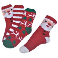 Polyester plush therapy foot spa socks Christmas theme Winter Manufactures