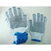 China Cotton Glove with PVC Dots on sale