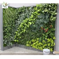 China UVG GRW021 Fake vertical garden in plastic artificial plants for indoor and outdoor wall decoration on sale