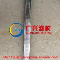 China stainless steel sSucking type filter used wedge wire basket strainer OD80x691mm on sale