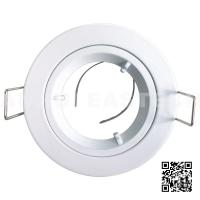 Quality Die Cast Aluminium GU10 MR16 IP20 Fixed Downlight Fittings - White Color for sale