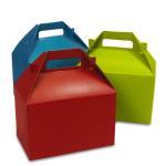Red Cake Take Away Paper Packaging Box Customized Design Logo Printing Manufactures
