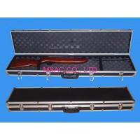 China Black Padded Aluminum Gun Case for Shotguns , ABS Carry Cases With Foam on sale