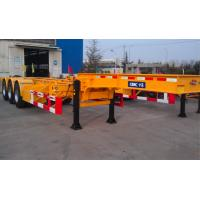 45ft Flatbed Container Chassis Trailer Gooseneck Skeleton With Three Axles Manufactures