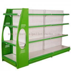 Stores Supermarket Shelves Commercial Storage Rack Green / Grey / Orange / Pink / Blue Manufactures