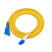 3 Meters LC To SC Single Mode Fiber Jumpers Yellow Jacket Easy Installation Manufactures