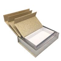 Luxury Magnetic Xmas Gift Boxes With Lids Gold Glitter Paper Custom Size Manufactures