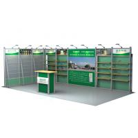 Green 10x20 Tension Fabric Modular Exhibits , Tradeshow Booth Displays Manufactures