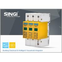 3 Pole Yellow Surge Protector Device , 1P , 2P , 3P , 4P lightning surge protector Manufactures