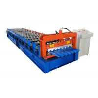 Trapezoidal Sheet Metal Roll Forming Machines Single Layer Type Easy Installation Manufactures