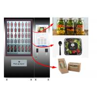 Healthy Food Vending Locker , Salad Vending Machine With Remote Control System Manufactures