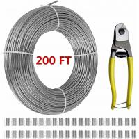 """T316 Stainless Steel 1/8"""" Aircraft Wire Rope For Cable Railing Kits 200 FT Manufactures"""