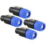 Audio Speaker Plug Twist Lock 4 Pole Speaker Plug Compatible With Neutrik