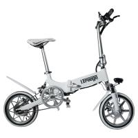 240W 36V 14 Inch Big Tire Foldable Electric Bike For Ladies Customized Color Manufactures