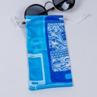 Small Microfiber Drawstring Eyeglass Pouch , Cloth Sunglasses Pouch Carrying Bags Manufactures