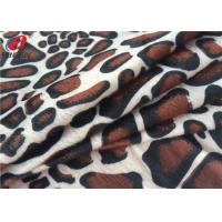 Animal Printed Polyester Velvet Brushed Fabric Knitted Velboa Fabric For Toy Manufactures