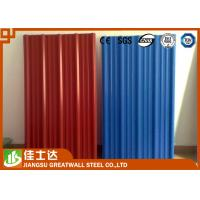 Red Blue Color Coated Roofing Sheets Crest Tile 0.3-1.2mmX600-1250mm Manufactures
