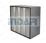 SS304 V Bank Filter Aluminum External Frame Easy Installation With Handler Manufactures