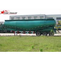 Banana Type Fuwa 3 Axles Bulk Cement Semi Trailer Green Colour CCC ISO Certification Manufactures
