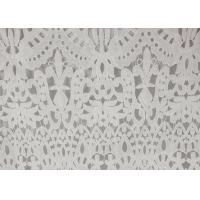Polyester Milk Water Soluble Dying Lace Fabric, Vintage Guipure Lace For Dresses Manufactures