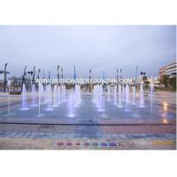 Customize Project Large Scale Colored Water Fountains In Big Square Manufactures