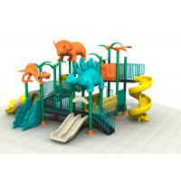 Dinosaur Style Kids Outdoor Playground Equipment With Brilliant Colors 24CBM Manufactures