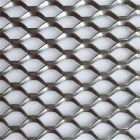 China Durable Stainless Steel Expanded Metal Lath 2.0mm Thinckness Mesh Curtain Wall on sale