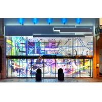 Full Color Indoor Transparency LED Display, 5500Nits SMD LED Screen For Window Advertising Manufactures