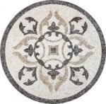 Solid Surface Marble Medallion Floor Tile , Decorative Custom Floor Medallions