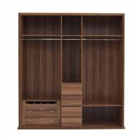 Quality Luxury Aparment Bedroom Furniture by big pull out doors in wall Wardrobe in MDF for sale
